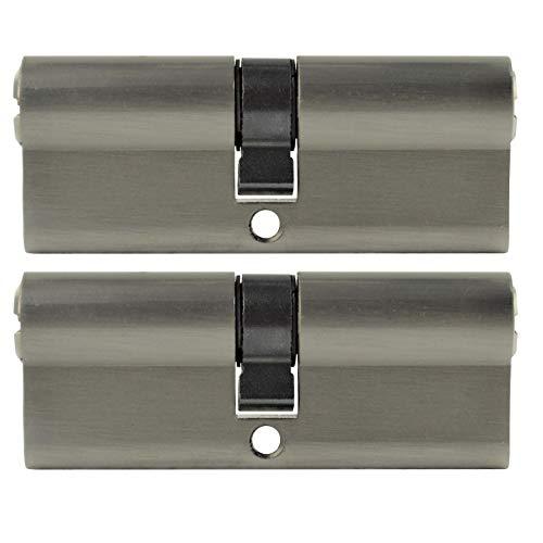 2x Zylinderschloss 80 mm gleichschließend 40x40mm inkl. 5 Schlüssel