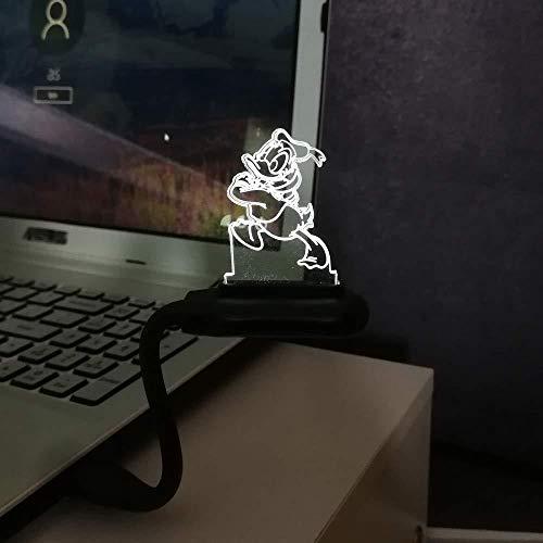 Mini nachtlampje flexibele USB-poort voor notebook laptop power bank bedlampje schattige Donald Duck Boy Girl geschenk ruimte decoratief