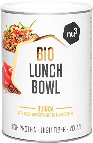 nu3 Bio Lunch Bowl Quinoa 400g - Gesundes Fertiggericht mit Mediterranen Kräutern und Gemüse - Schnelles Fertiggericht für die Arbeit und Zwischendurch - Vegan, Gluten- und Laktosefrei – Bio-Zutaten
