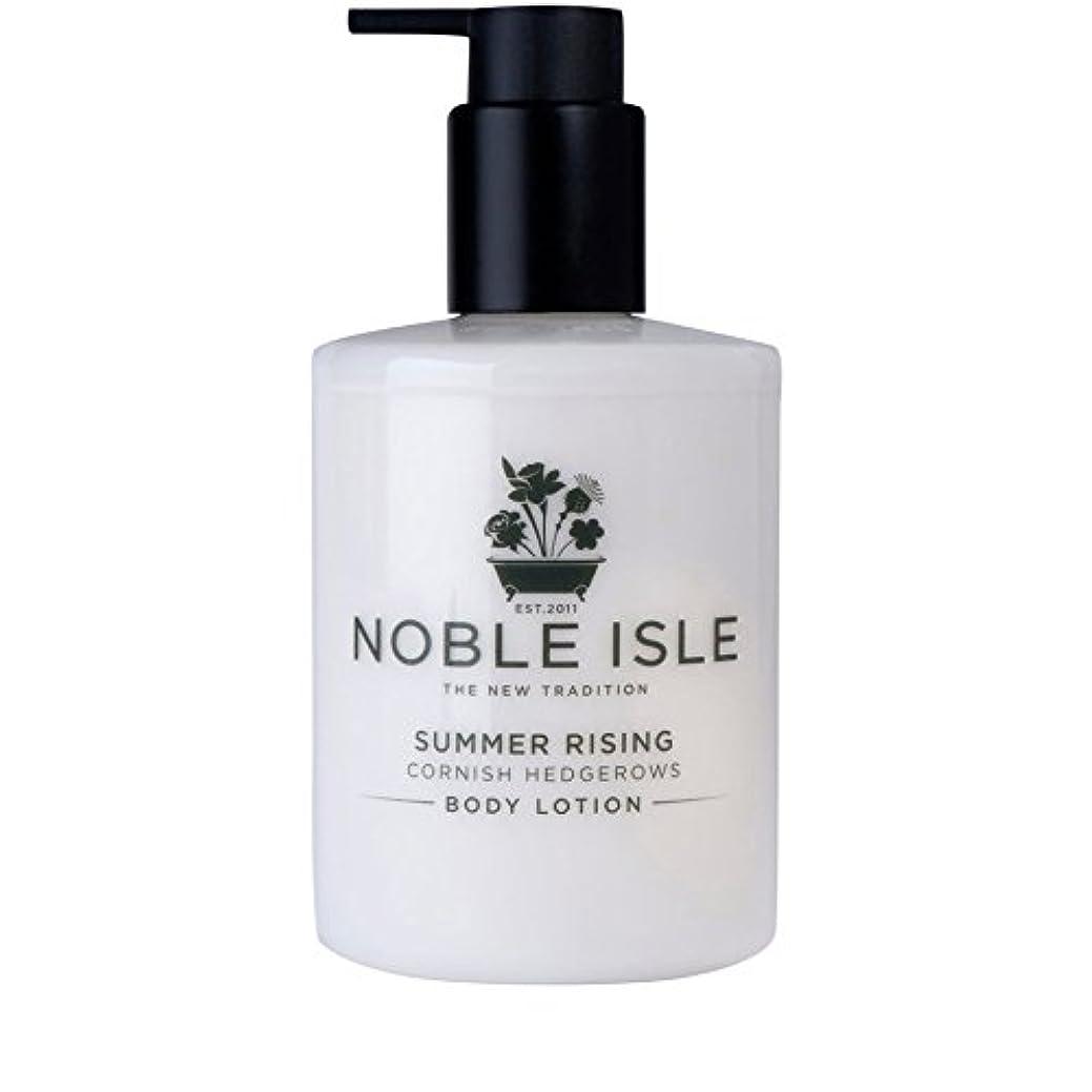 軽挨拶印象的なコーニッシュ生け垣ボディローション250ミリリットルを上昇高貴な島の夏 x2 - Noble Isle Summer Rising Cornish Hedgerows Body Lotion 250ml (Pack of 2) [並行輸入品]