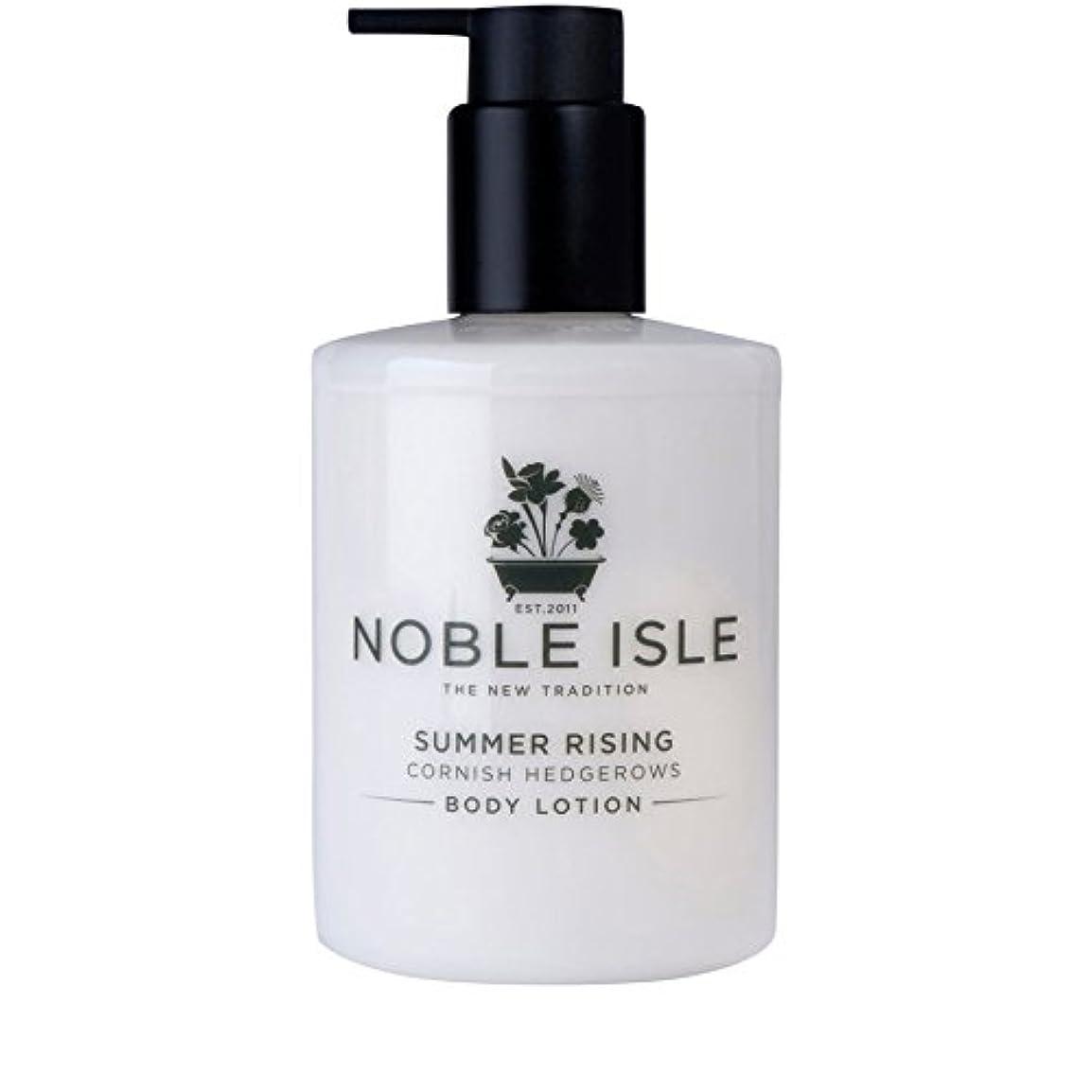 けがをする鈍い平凡コーニッシュ生け垣ボディローション250ミリリットルを上昇高貴な島の夏 x4 - Noble Isle Summer Rising Cornish Hedgerows Body Lotion 250ml (Pack of 4) [並行輸入品]
