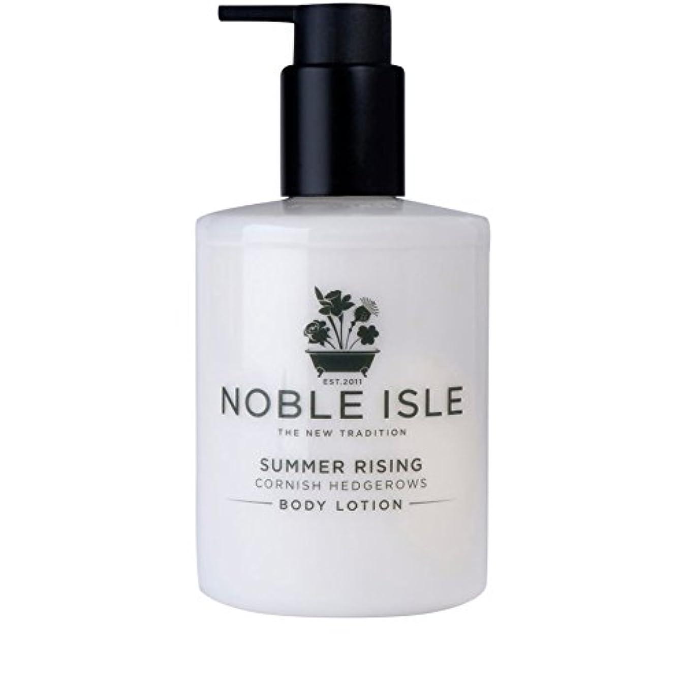 不一致質素なランデブーコーニッシュ生け垣ボディローション250ミリリットルを上昇高貴な島の夏 x4 - Noble Isle Summer Rising Cornish Hedgerows Body Lotion 250ml (Pack of 4) [並行輸入品]