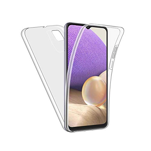 Funda para Galaxy A32 5G Full 360 Protección Frontal Trasera Transparente Compatible Con Galaxy A32 5G Cover