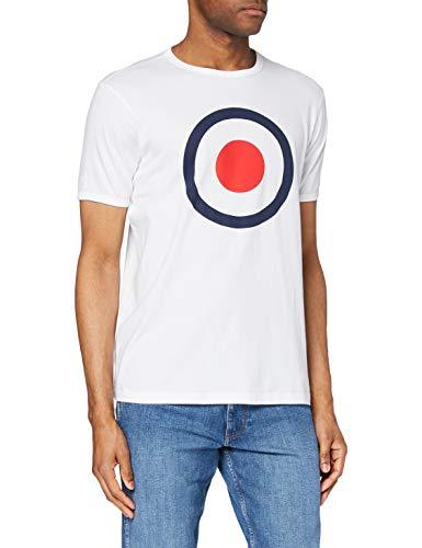 Merc of London Ticket T-Shirt Camiseta, Blanco, L para Hombre