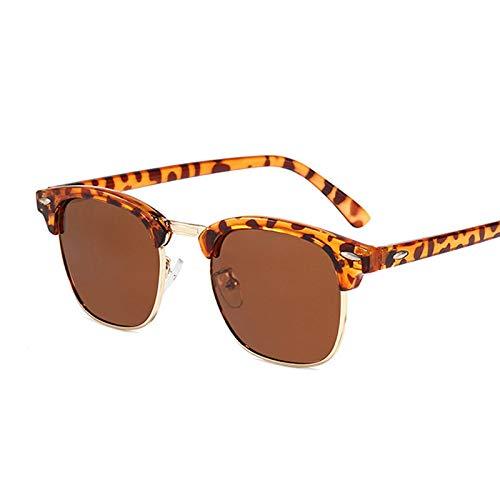 NJJX Gafas De Sol Polarizadas Semi Sin Montura Para Mujer/Hombre, Gafas De Sol Cuadradas Con Remache Retro, Para Hombre, Mujer, Clásico, Polarizado Vintage