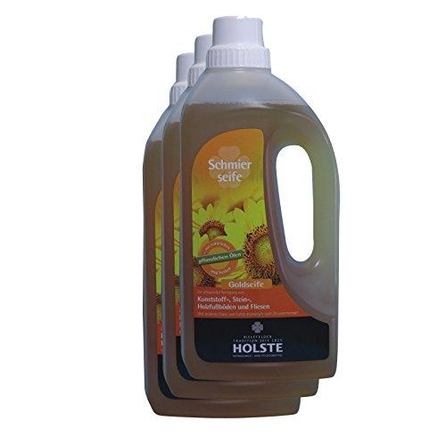 Sparpack HOLSTE Goldseife - flüssige Schmierseife 3 x 1 Liter
