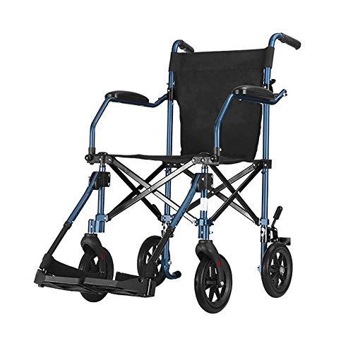 B-K Einfacher Rollstuhl Ultraleichter, Zusammenklappbarer, Leichter Alter Rollstuhl Tragbarer, Manueller, Kleiner Reisetrolley - 110-Kg-Rollstuhl