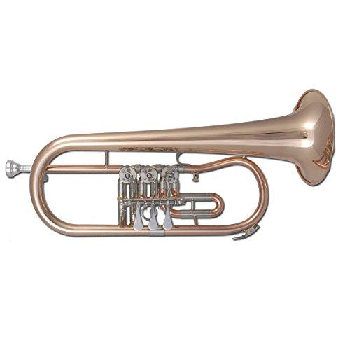 Tuyama® TFH-371 Flügelhorn in B (3 Drehventile) Bugle Goldmessing lackiert