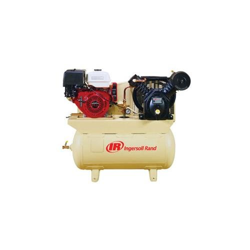 - Ingersoll Rand 25 CFM @ 175 PSI, 13 HP Horizontal Air Compressor with Alternator, Model# 2475F13GH