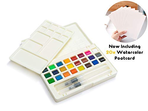 Umiko Watercolors, for The Apprentice of The Craft - Now Including 20 Cold-Pressed Watercolor Postcards & Everything You Need to Become a Master of Watercolors-Get Your Set Today Before Its All Gone!