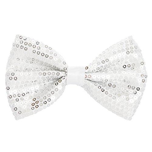 AJ Men's accessoires Motif fantaisie 1 noeud Papillon prénoué - Argenté - Taille unique