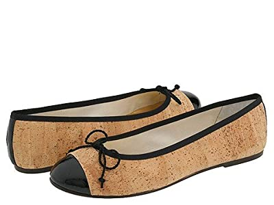 French Sole Vanity (Cork/Black Patent) Women