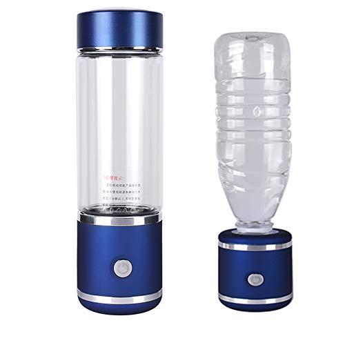 XXGJK SPE/PEM Hohe H2 Und ORP Wasserstoff Generator Wasser Ionisator Flasche Alkaline Wasserstoff Wasser Mit Ozon Rest Chlor Auspuff,Blau