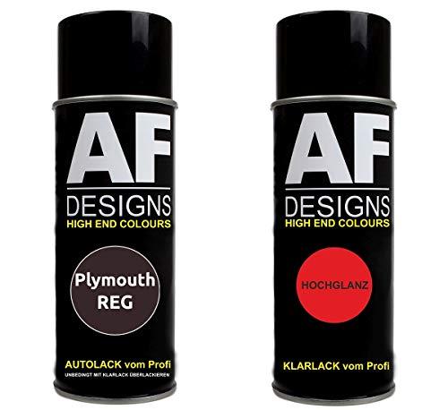 Autolack Spraydose Set für Plymouth REG Dark Rosewood Perl Basislack Klarlack Sprühdose 400ml