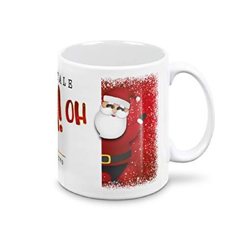 mugnue Tazza Mug Tazza Natale Tazze Natalizie Regali Natale Economici Tazza Colazione con Scatola Regalo Bianca (Babbo Natale OH OH OH Buon Natale)