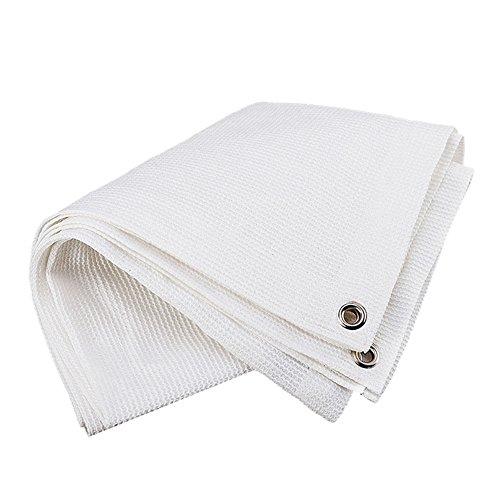 LXFBX Schatten Tuch Shade net, Schatten Haushaltsnetto Hofterrasse Schatten Netto-Pflanze blüht Schutzdach Beschattungsnetz (Farbe : Weiß, größe : 3x6m)