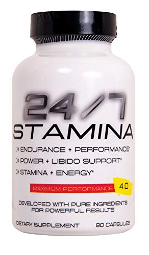24/7 Stamina Testosterone & Enlargement Booster for Men - Increase Size, Strength, Stamina - Energy, Mood, Endurance Boost - All Natural Performance Supplement - Made in USA Pentlab