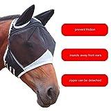 creatspaceDE 1Pcs 00080 Pferd Gesichtsmaske, atmungsaktiv Pferd Gesichtsmaske, Pferd Gesichtsmaske, Anti-Moskito-Pferdegesicht Farbe Maske: weiß M