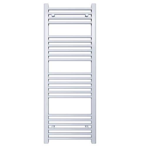Radiador toallero para baño – Color blanco – Distancia entre ejes: 40 – Dimensiones: 1200 x 450