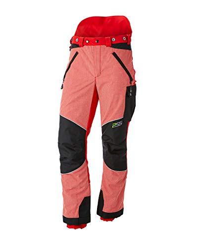 PSS X-Treme Vectran Schnittschutzhose Rot/Schwarz, Größe 46