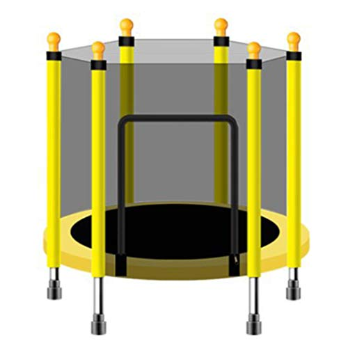 LXXTI Trampolines for Children Outdoor, Indoor Or Outdoor Trampoline for Kids with Safety Enclosure Net Spring Pad, Combo Bounce Jump Trampoline,Yellow,110cm/43inch
