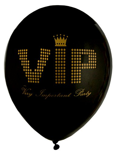 falksson - Palloncini con scritta 'VIP - Very Important Party', 8 pz