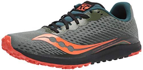 Saucony Men's Kilkenny XC 8 Flat Cross Country Running Shoe, Pine, 11