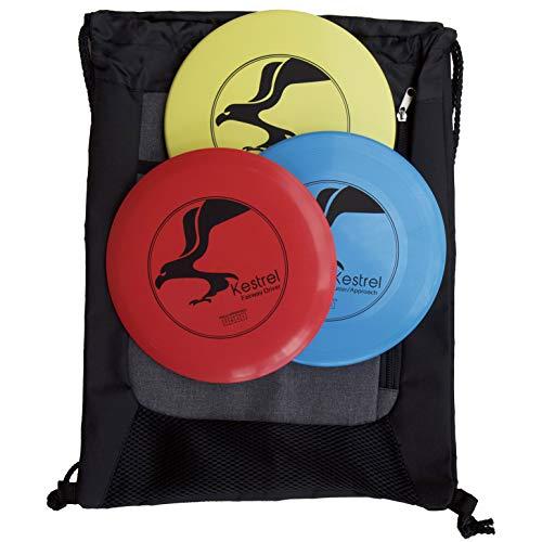 Kestrel Disc Golf Beginner Set Bundle | 3 Discs + Bag | Includes Fairway Driver, Mid-Range and Putter
