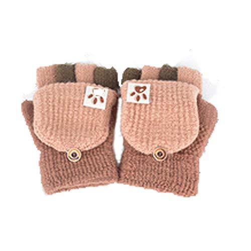 Fingerhandschuh Herbst und Winter Kleinkind Baby Warme Handschuhe Fünf Finger Fäustlinge verdicken Patchwork Unisex Mädchen Jungen Fahrradhandschuhe Winterhandschuhe 2-6 Jahre alt (D)
