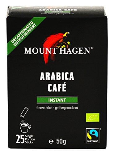 Mount Hagen Bio FT Naturland Instant Kaffee Sticks, 25x2g, entkoffeiniert