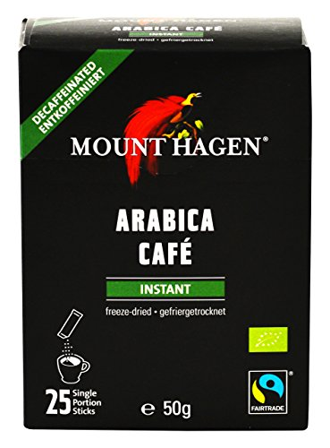 Mount Hagen Bio Fair Trade entkoffeinierten Instant-Kaffee-Stick 50g (2gX25P)
