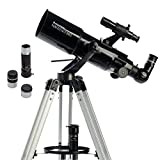 Celestron - PowerSeeker 80AZS Telescope - Manual Alt-Azimuth Telescope for Beginners - Compact and Portable - BONUS Astronomy Software Package - 80mm Aperture