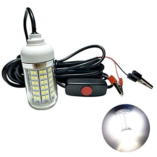 Enhong 108 LEDs水中集魚灯 夜間釣り IP67 (ホワイト)