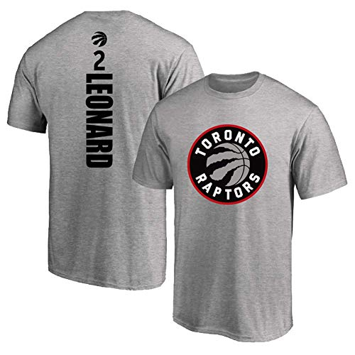 JAG NBA Short Sleeve T-Shirt # 2, Raptors Kawhi Leonard # 2, Loose Men's Classic Training Sports Jersey