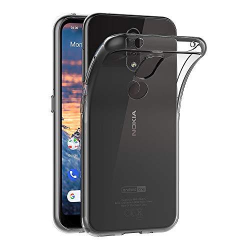 AICEK Hülle Compatible für Nokia 4.2 Transparent Silikon Schutzhülle für Nokia 4.2 Hülle Clear Durchsichtige TPU Bumper Nokia 4.2 Handyhülle (5,71 Zoll)