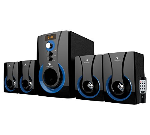 Zebronics SW3490 RUCF 4.1 Multimedia Speaker with Remote Control