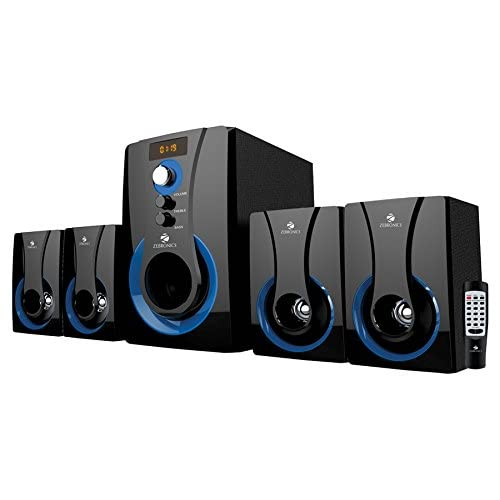 Zebronics Zeb-SW3490RUCF 4.1 Multi Media Speaker with USB and SD Card Input, FM.