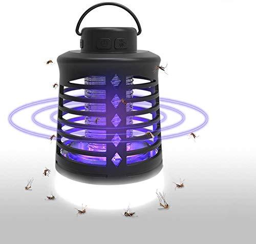 Lukasa Zanzariera Elettrica da Esterno, Lampada Antizanzare Ricaricabile USB Lampada Zanzare Campeggio 2-in-1 Luce Zanzare a LED con 3 modalità Illuminazione Impermeabile Trappola per Zanzare