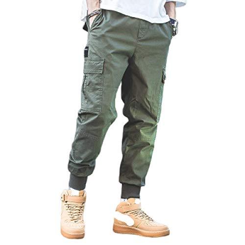 Pantalones de Combate de Carga para Hombre, Costura de Retazos, Suelto, de Gran tamao, con Bolsillo Grande, Pantalones harn al Aire Libre, Resistentes al Desgaste y duraderos X-Large