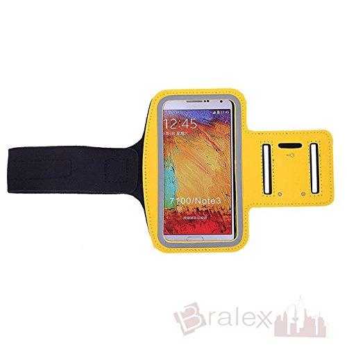 BRALEXX Sporttasche Armtasche Smartphonetasche passend für Allview V2 Viper X, Gelb