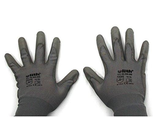 Montage Handschuhe aus Strick PU-Beschichtung Schutz universal (9)