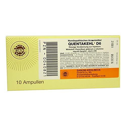 QUENTAKEHL D 6 Ampullen 10X1 ml
