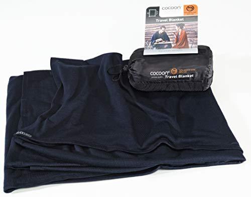 Cocoon Travel Blanket Maße: 180 x 140 cm Farbe: Graphite Blue