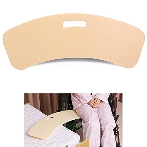LXT PANDA Transferhilfe Transferbrett Rutschbrett für Rollstuhlfahrer, gebogenes Transfer Board für Rollstuhlfahrer, Gleitbrett mit Griffen, für Bett, Rollstuhl, Stuhl oder Kommode.