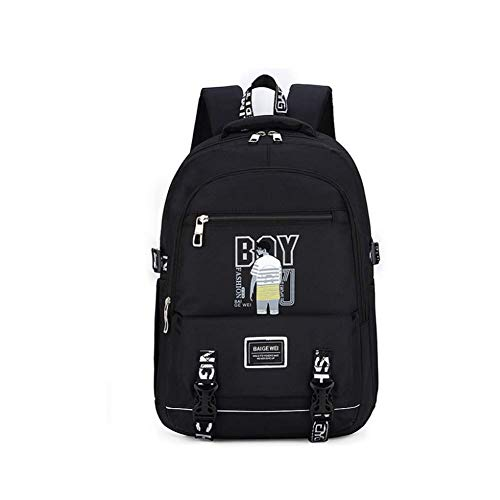 WLP-WF Backpack Leisure Camping Mountaineering Rucksack Outdoor Men Women Sports School College Students Luggage Bag Lightweight Black,Black-2,30L,Black-5