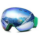 CAMTOA Occhiali da Sci, Occhiali da Snowboard con Protezione antiappannamento UV400 al 100%, Resistenza...