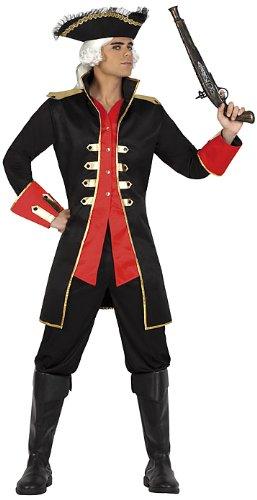Atosa 22914 - Costume da pirata Uomo, misura XL, colore: Nero/Rosso