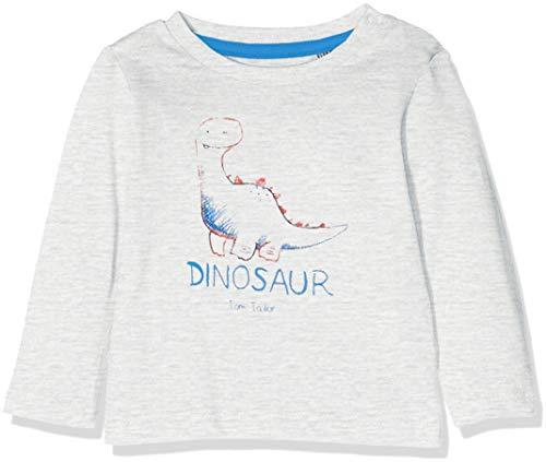 TOM TAILOR Kids TOM TAILOR Kids Baby-Jungen 1/1 T-Shirt, Beige (Lunar Rock Melange|Beige 8439), 74