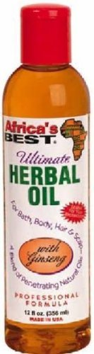 Africa's Best Herbal Oil 12 Oz. by HC Industries, Inc. (English Manual)
