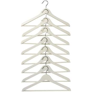 IKEA Holzkleiderbügel Bumerang 8-er Pack Bügel aus massivem Holz in WEISS